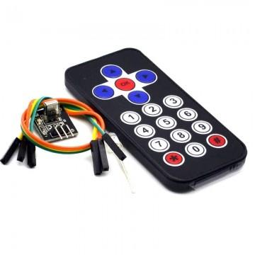 Télécommande  infrarouge noir IR avec récepteur HX1838